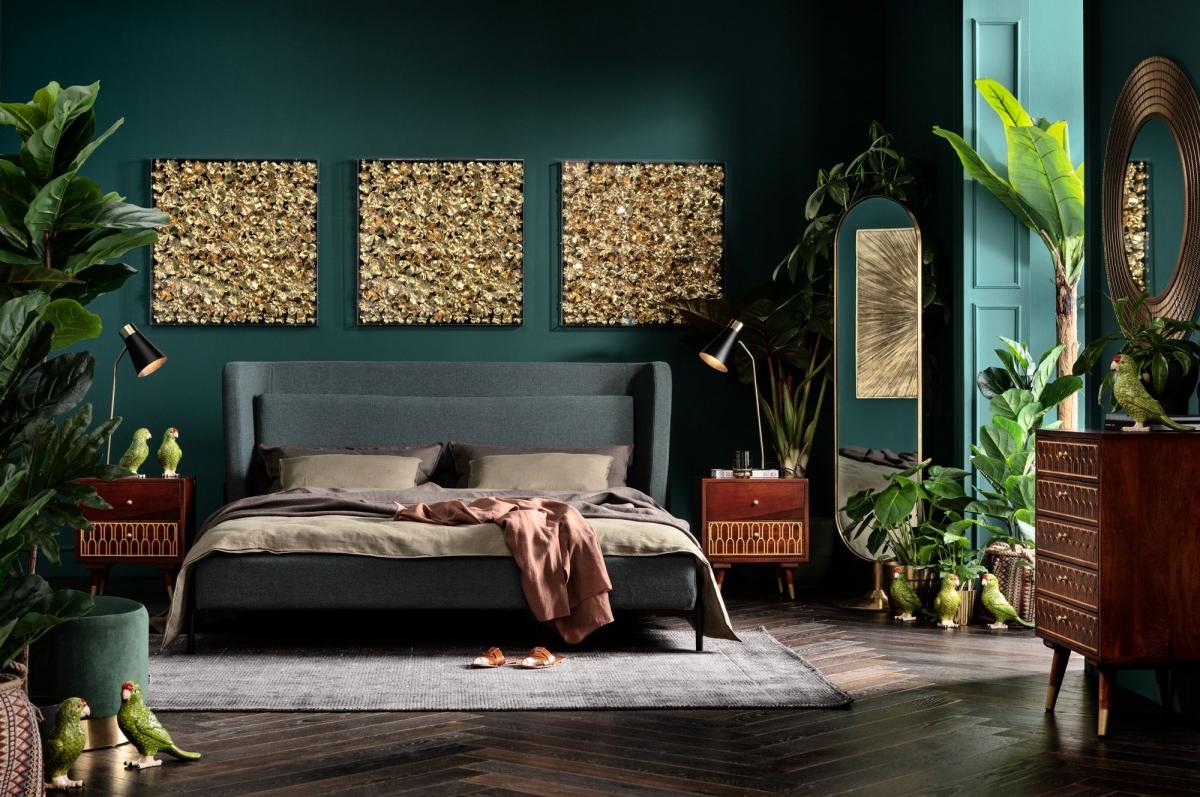 Роскошный и элегантный дизайн спальни с современным колоритом