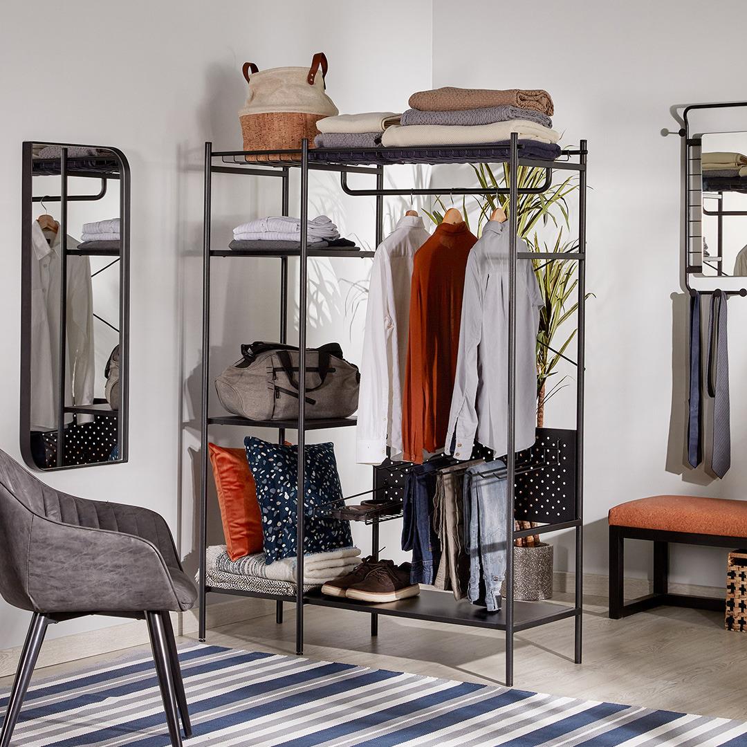 Функциональное и красивое убранство для гардеробной зоны