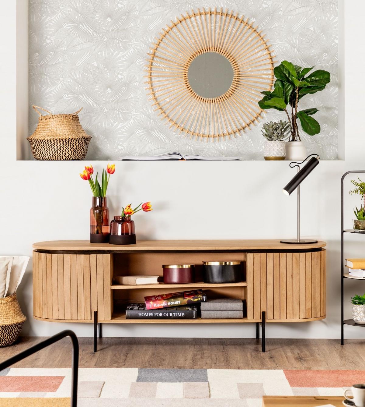 Практичный современный уголок хранения с модным дизайном для небольших квартир