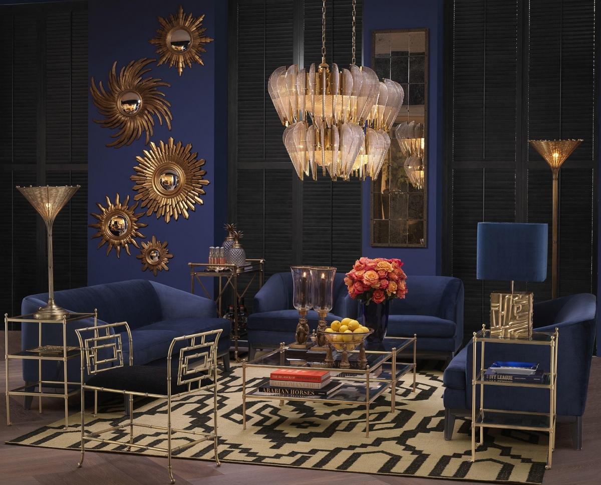 Добавьте роскоши и света: уникальная гостиная в стиле арт-деко