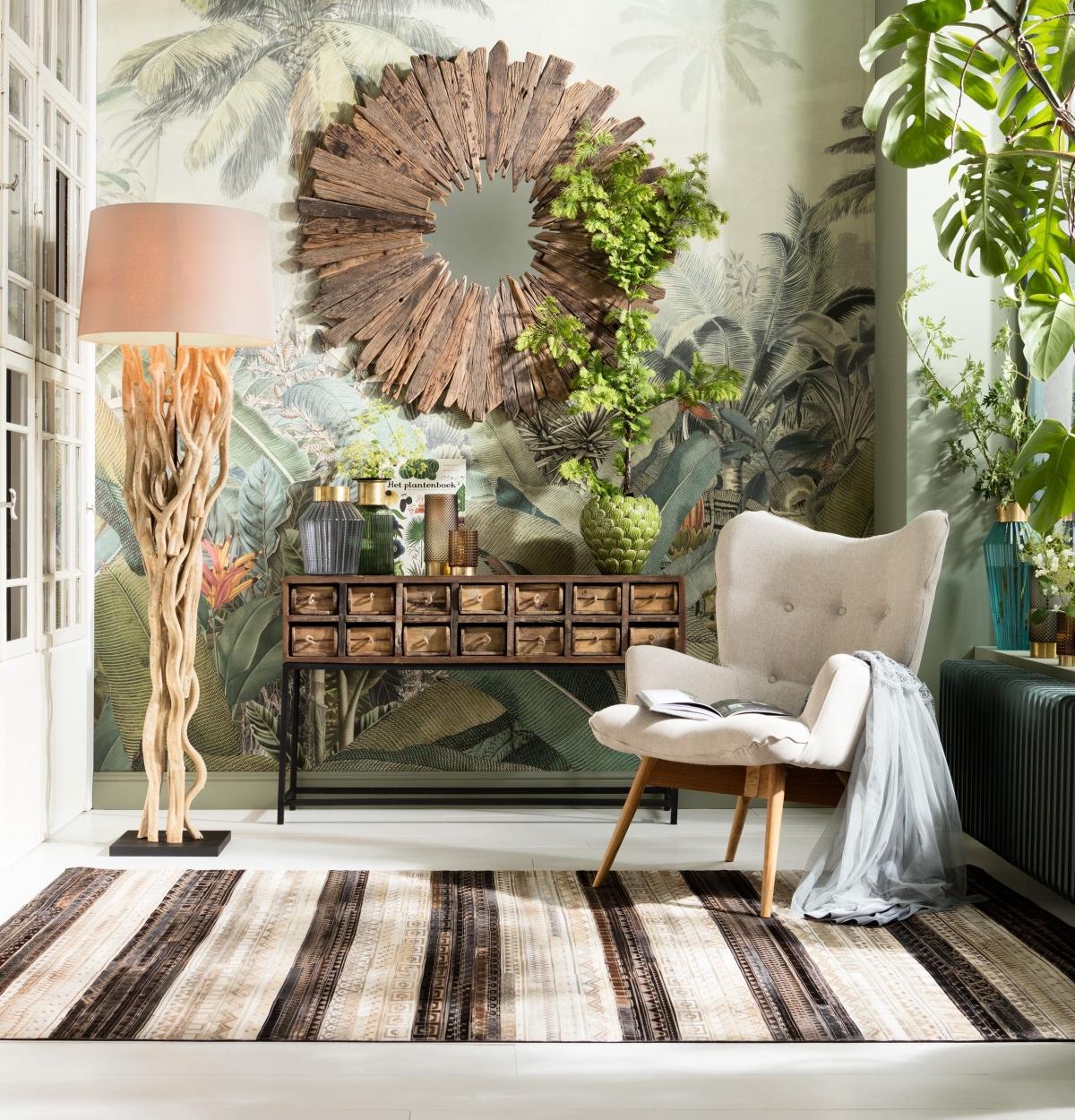 Отдых в комнате с современным декором наполненным эстетикой ЭКО дизайна