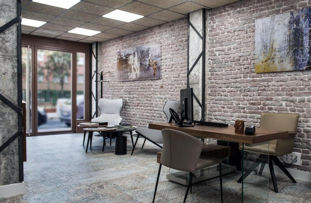 Офис в скандинавском стиле, элегантная естественность