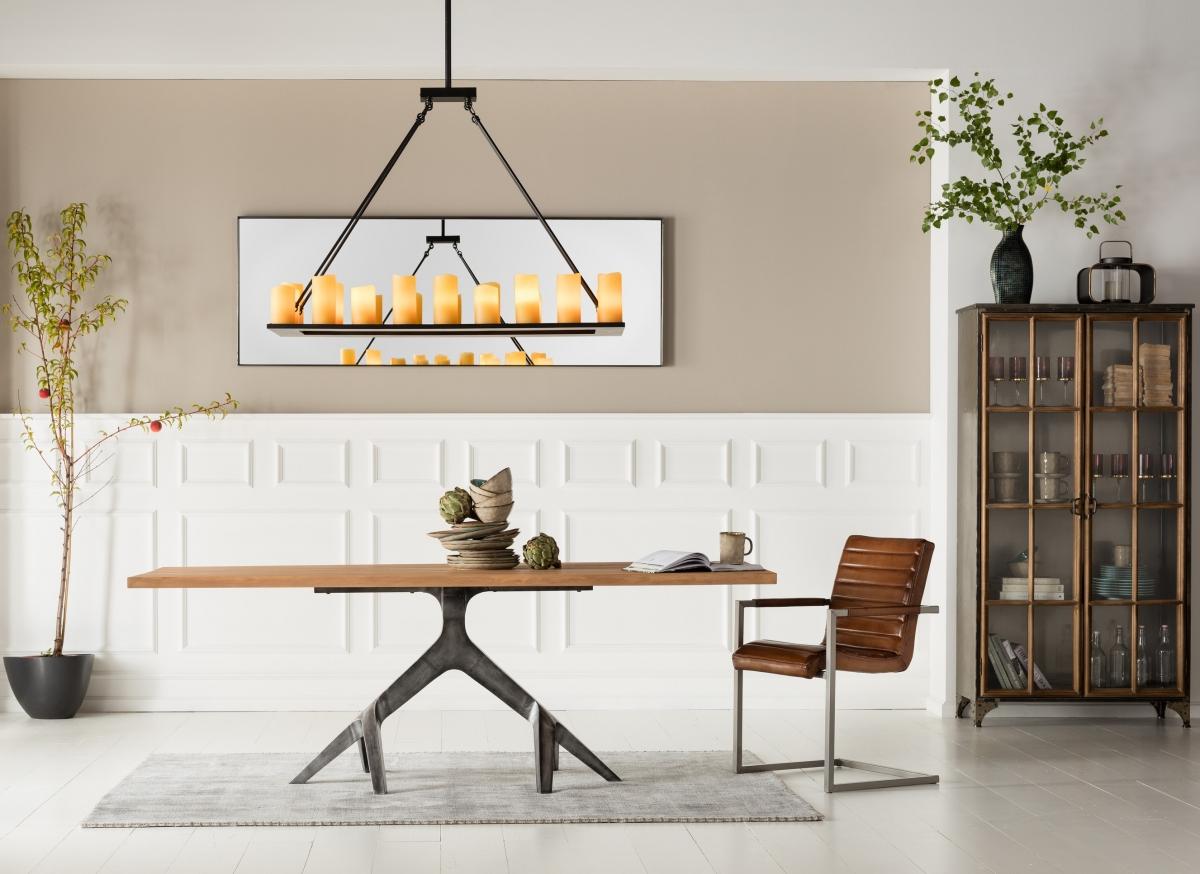 Дизайн столовой-гостиной в индустриальном стиле