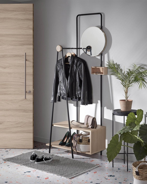Стильный, модный и функциональный интерьер для компактной прихожей