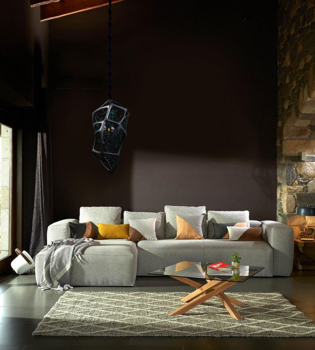 Дизайн современной гостиной в духе эклектики