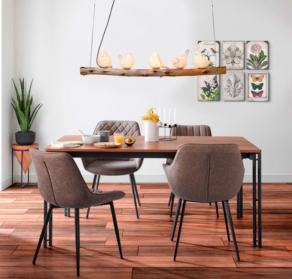 Жизнерадостный интерьер обеденной зоны для большой семьи