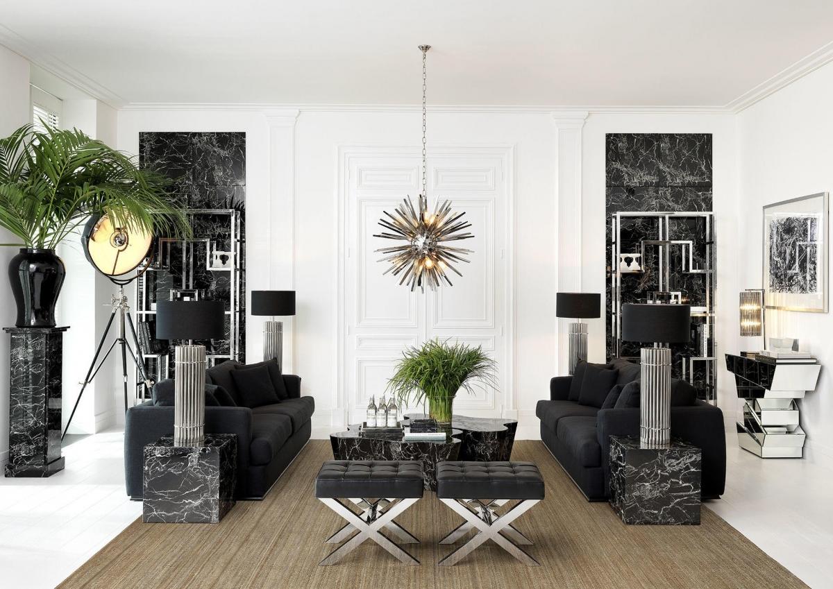 Роскошь и актуальная английская классика в дизайне гостиной