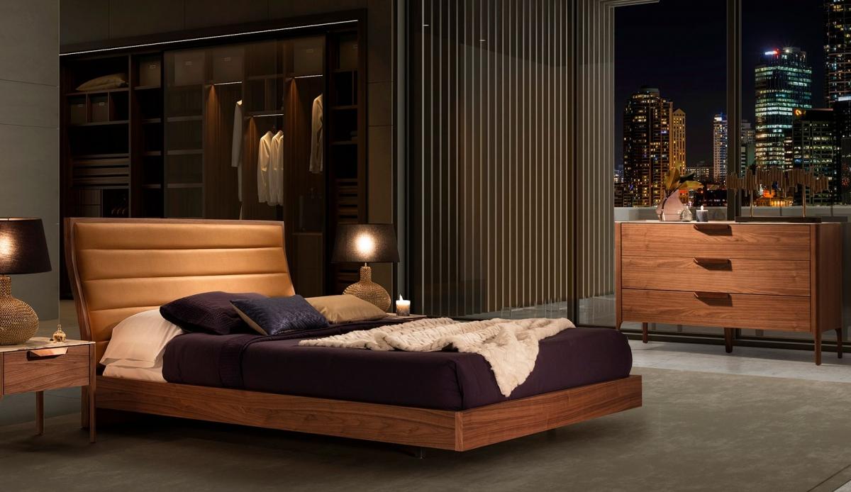 Спальня в европейском стиле с природными красками