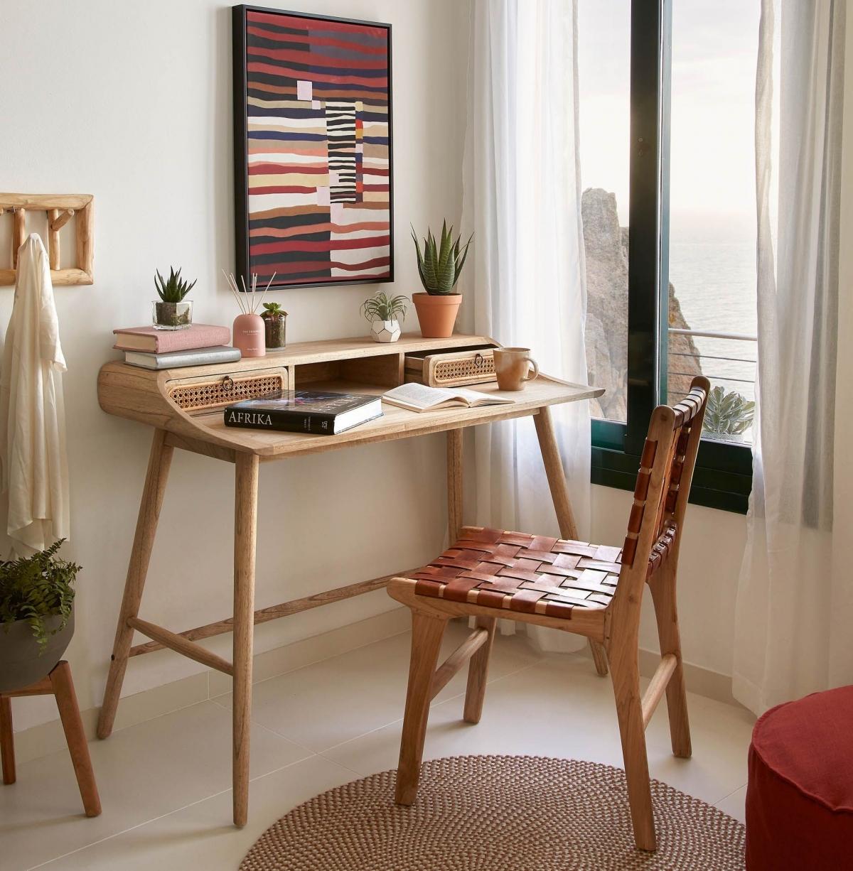 Комфортный кабинет в стиле африканской саванны