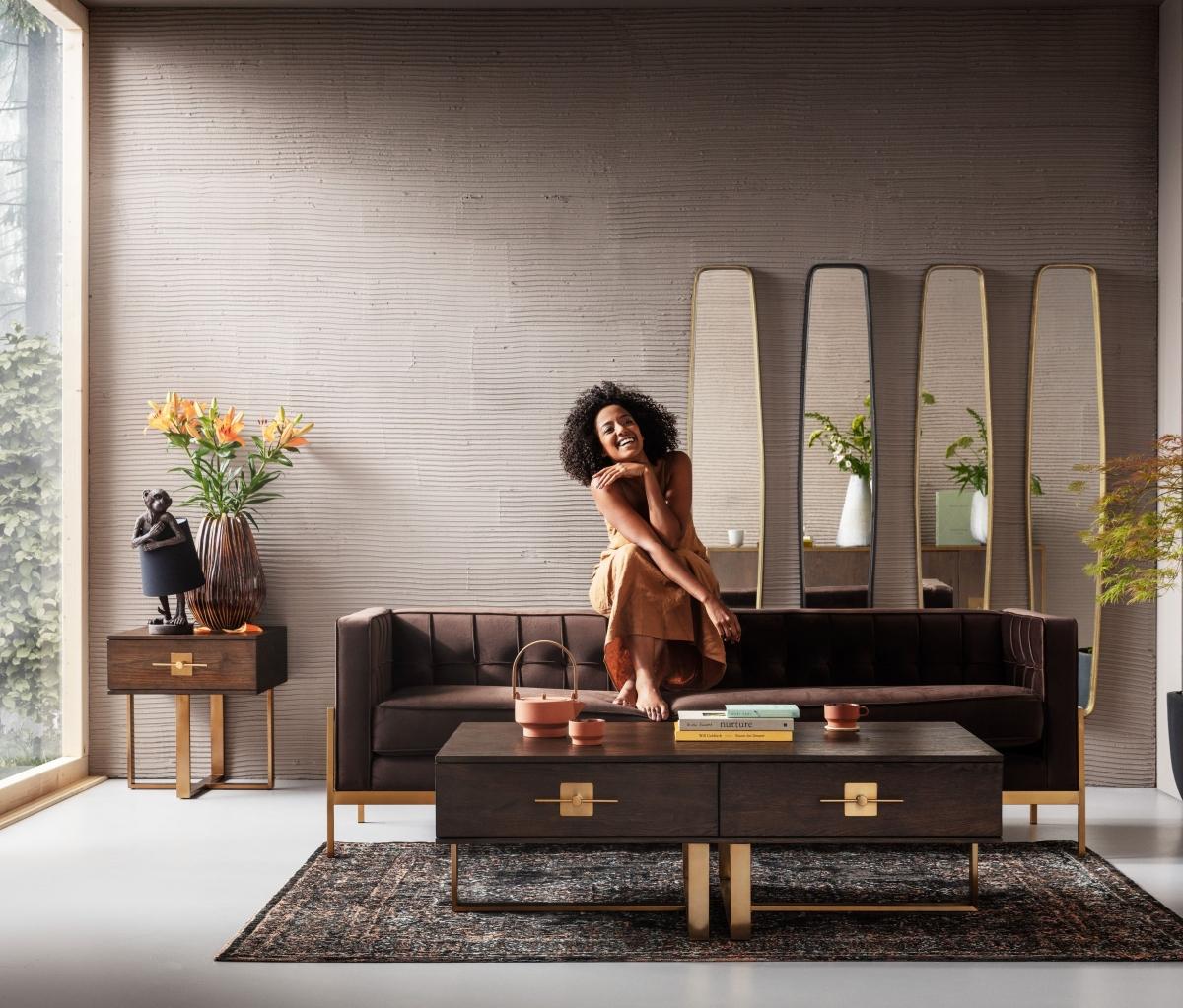 Стильный интерьер гостиной видовых апартаментов
