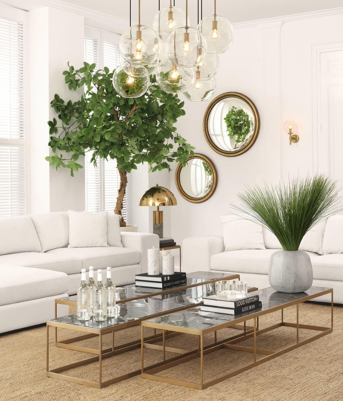 Гостиная в стиле модерн, с нотками классики и гармонией минимализма