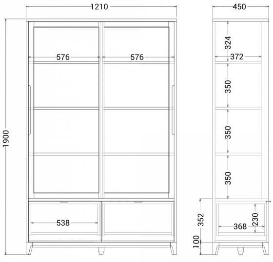 Витрина Case 121X45X190 CM 7