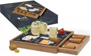 Набор для сыра: разделочная доска + 4 ножа