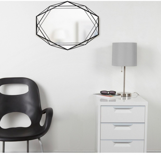 Зеркало настенное prisma 43X57X9 CM черное 3