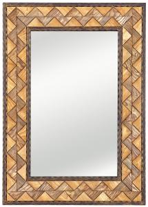Зеркало в раме из стали и дерева Triangle 72X102 CM