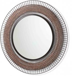 Круглое зеркало в металлической раме Rob Ø90 CM