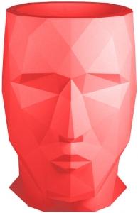 Кашпо в форме головы Adan 49X70X68 CM красный
