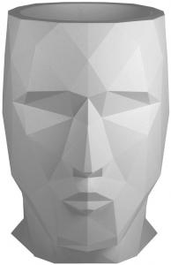 Кашпо в форме головы Adan 49X70X68 CM серый