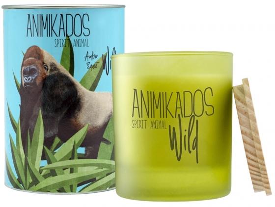 Свеча ароматическая Gorilla амбровый wild 40 часов горения 1