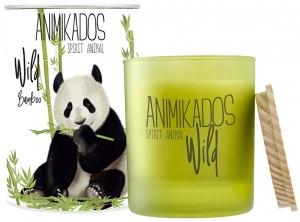 Свеча ароматическая Panda бамбуковый wild 40 часов горения