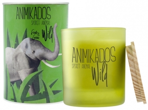 Свеча ароматическая Elephant свежий wild 40 часов горения