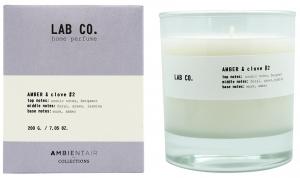 Свеча ароматическая Lab Co амбра и гвоздика 40 часов горения