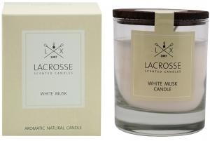 Свеча ароматическая в стекле «белый мускус»