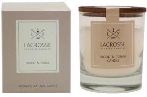 Свеча ароматическая в стекле «древесная & тонка»