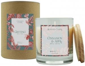 Свеча ароматическая Gifting Cinnamon and apple 40 часов горения