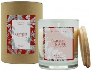 Свеча ароматическая Gifting Caramel and apple 40 часов горения