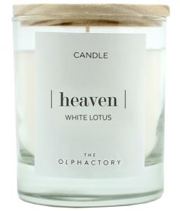 Свеча ароматическая the Olphactory Heaven white Lotus 40 часов горения