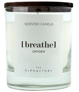 Свеча ароматическая the Olphactory Breathe black Oxygen 40 часов горения