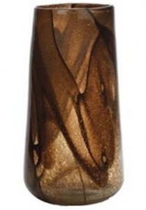 Ваза Leaf Brown Glass 19X19X35 CM
