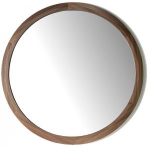 Круглое зеркало в раме из ореха Nature Life Ø90 CM