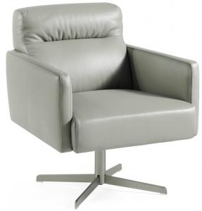 Вращающееся кожаное кресло Atelier 71X80X80 CM
