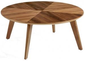 Журнальный столик на каркасе из ореха Nature Life 100X100X40 CM