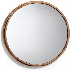 Круглое зеркало в раме из ореха Nature Life Ø80 CM