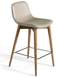 Полубарный стул на каркасе из ореха TAB 52X45X93 CM