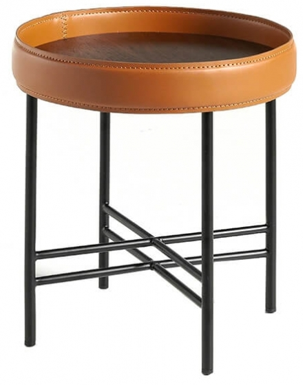Журнальный столик с бортиком Ring 42X42X45 CM 1
