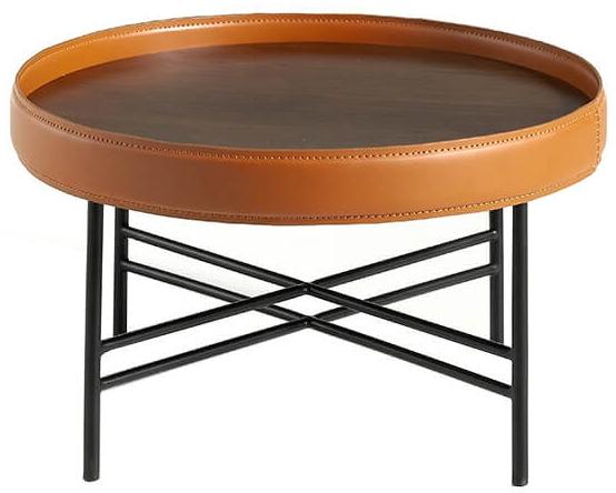 Журнальный столик с бортиком Ring 70X70X43 CM 2