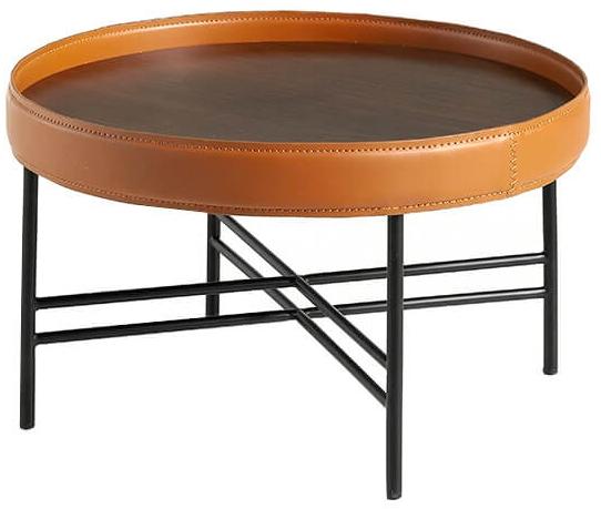 Журнальный столик с бортиком Ring 70X70X43 CM 1