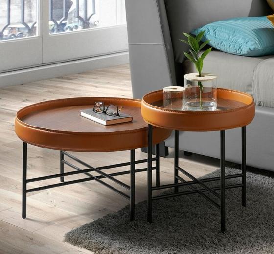 Журнальный столик с бортиком Ring 70X70X43 CM 5