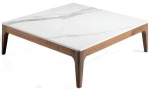 Журнальный столик на каркасе из ореха CT795 100X100X30 CM