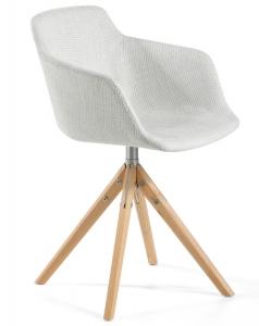 Вращающееся кресло с ножками из ясеня DC 58X54X81 CM