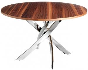 Круглый стол со стальными ножками F2133 120X120X75 CM
