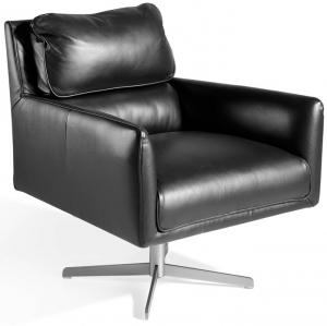 Кожаное поворотное кресло Incanto 75X83X87 CM