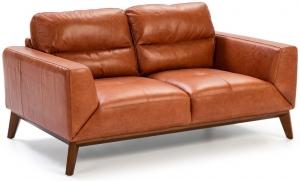 Кожаный диван на каркасе из ореха Incanto 159X96X86 CM