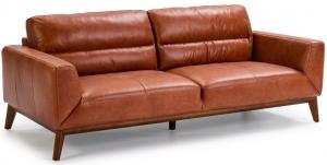 Кожаный диван на каркасе из ореха Incanto 216X96X86 CM