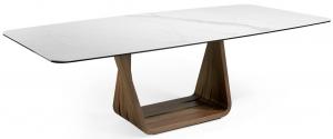 Обеденный стол из массива ореха и мрамора MI 260X120X75 CM