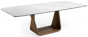 Обеденный стол из ореха и мрамора MI 260X120X75 CM